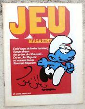 Jeu magazine Schtroumpfs BD et jeux neuf Peyo