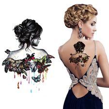Temporäres Tattoo Schmetterlinge Frau Farben Color Women Wasserfest Einmal