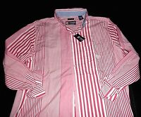 "NWT $50 Mens CHAPS Casual ""Easy Care"" Striped Long Sleeve Shirt: Medium"