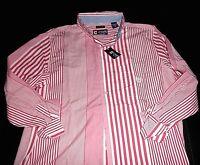 "NWT $50 Mens CHAPS Casual ""Easy Care"" Striped Long Sleeve Shirt: Medium"