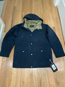 Mens Burton Snowboards Newfound Down Trench Coat Mood Indigo Sz M NWT $319.95