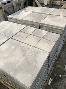 Terrassenplatten  Marmor Grau Schwarz Römischer Verband 1 qm