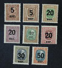 CKStamps: Iceland Stamps Collection Scott#130-138 Mint H OG