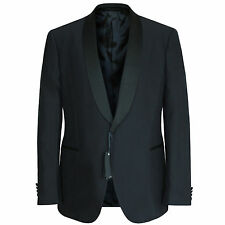 LARDINI $1500 navy blue smoking tux blazer shawl collar dinner jacket 44/54 NEW