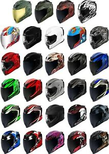 Icon Airflite Helmet - Full Face Motorcyle Street Bike Riding DOT ECE Sun Visor