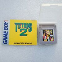 Tetris 2 (Nintendo Game Boy) ☆Authentic☆W/Manual☆Tested☆