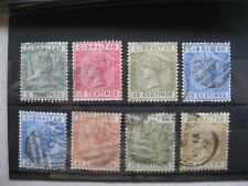 Gibraltar: 1889-96 Definitive  selection (Spanish Currency)  to 1p Used