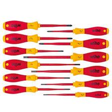 Wiha 12-tlg Elektriker Schraubendreher Set SoftFinish® electric slimFix Schlitz