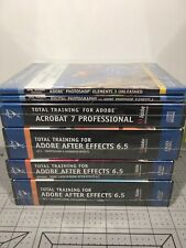 Lot Of 6 Total Training for Adobe - All New Sealed