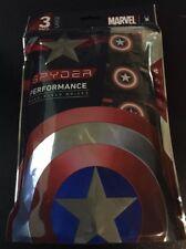 Spyder Mens Underwear Boxer Briefs Captain America 3 Pack Size Large L 36-38