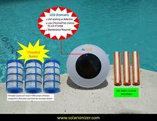 Solar Pool Purifier Ionizer System -3 Anodes & 3 Baskets - Lifetime Warranty