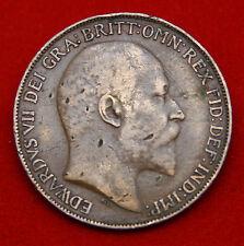 REGNO UNITO ONE PENNY 1908 Edoardo VII KM # 794 SP # 3990