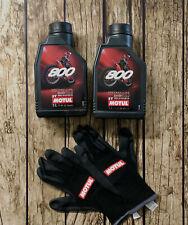 Motoröl 2 Liter Motul 800 2T Offroad Racing 2-Takt Gratis Gloves Mischöl