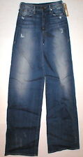 New Womens True Religion Brand Jeans NWT 24 High Rise Ava Wide Leg Designer Tall