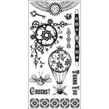 INKADINKADO RUBBER STAMPS CLEAR STEAMPUNK NEW STAMP SET
