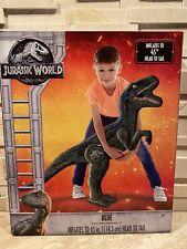 "Jurassic World Inflatable Velociraptor Blue Dinosaur Figure 45""."