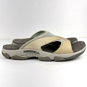 Merrell Rave Slides Sandals Women's Size 9 Tan Taupe Air Cushioned