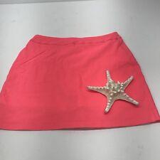 Jamie Sadock Golf Skort sz12 Orange Tennis Sporty Casual Athletic Pockets Skirt