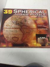"NIB NEW SEALED BUFFALO 3D SPHERICAL JIGSAW PUZZLE ANTIQUE GLOBE 530 PIECES 9.5"""