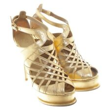 Anna Dello Russo for H&M TOTALLY SOLD OUT GOLD SANDALS ORIGINAL NEW PARTY Summer