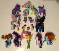 MLP My Little Pony Figures Lot of 16 Kid Toys Bundle Rainbow Dash Rarity Spike