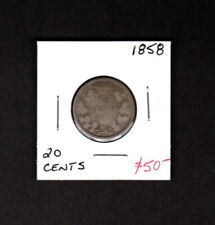 CANADA 1858 20 CENT QUEEN VICTORIA SILVER COIN