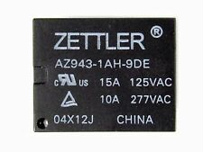 LOT of 20 ZETTLER Subminiature Relay AZ943-1AH-9DE 15A @ 125VAC 10A @ 277VAC
