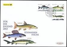 BRD 2015: Süßwasserfische Post-Groß-FDC der Jugendmarken Nr. 3169 - 3171! 1803