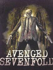 Avenged Sevenfold black T-shirt Skull  Death Bat Heavy Metal Rock Music