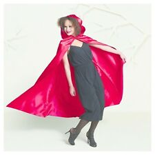 Hyde & Eek Women's Hooded Red Cape Satin Halloween Costume One Size Spooky NEW