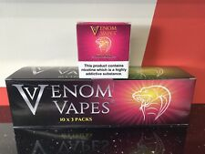 VENOM VAPES #7 MR PINK. GRAPEFRUIT, LEMON ORANGE MINT 3mg Nic, 30 x 10ml Bottle
