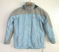 Vintage The North Face Grey Blue Hyvent Jacket with Fleece Liner Size M Medium