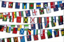 More details for commonwealth games bunting flags all 71 nations country 18.5m premium polyester