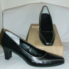 ROS HOMMERSON~ BLACK LEATHER PUMPS~ 8 M