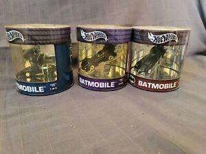 Hot Wheels Set of 3 Batmobile Batman Oil Can Series Showcase Cars Limited 4000