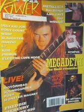 Rock Power 1992 Magazine #1-Megadeth/Metallica/Slaughter/Ugly Kid Joe/Body Count