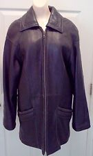 Tiboa Lecthers Womens 1990's Black Genuine Leather Jacket Coat size X-Small