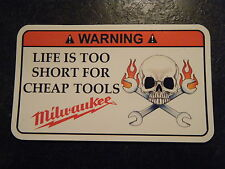 Milwaukee  Tool Box Warning Sticker - Gold - Must Have!! snapon mac dewalt