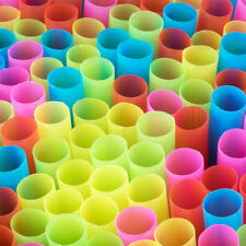 "50 - 8.5"" Colossal/Bubba Neon Unwrapped Straw 1/2"" Diameter Free Ship USA Only"