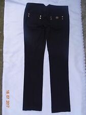 ROBERTO CAVALLI Jeans Pants Black Cotton Stretch Slim Skinny Fit waist 34""