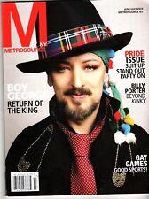 BOY GEORGE Metrosource magazine 2016 BILLY PORTER Pride Issue Tori Amos NYC