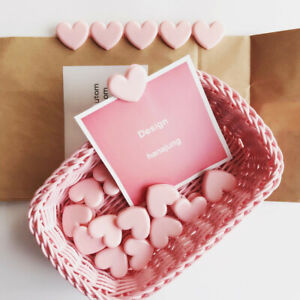 5 Pcs Cute Pink Heart Wing Paper Peg Stationery Wooden Photo Clip Cute Crafts