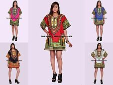 African Dashiki Blouse Shirts Hippie Blouses WHOLESALE 5 PC Mix Colors Bohemian