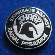 SKINHEAD SKA REGGAE BADGE - SHARP - BLACK