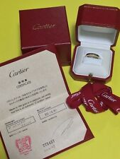 Authentic Cartier Lanieres Yellow Gold Ring 18K 750 EU55 US7  Warranty Card EXC
