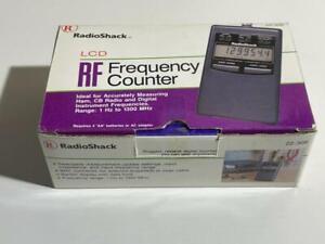RadioShack LCD RF Frequency Counter 1hz - 1300 Mhz Ham CB Digital 22-206 - FS!!!