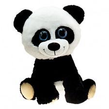 Großer Plüsch Panda 80 cm groß XXL Glitzeraugen Pandabär Kuscheltier Plüschtier