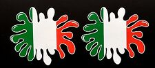 Italia Bandera Pintura Splat Coche/Casco Pegatinas Iphone Ipad Pared Arte Ferrari