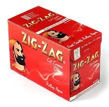 100xPks de Zig Zag Rouge Cigarette Papiers Rizla Complet Boîte