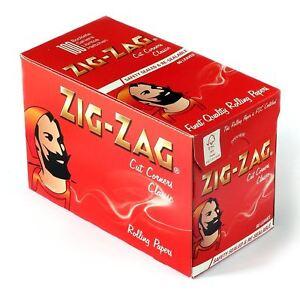 100xPks of Zig Zag Red cigarette papers rizla Full Box